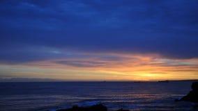 Облако и промежуток времени 4K восхода солнца цветов акции видеоматериалы