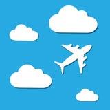 Облако и самолет бесплатная иллюстрация