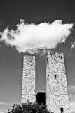 Облако над башнями San Gimignano, Италия Стоковые Изображения