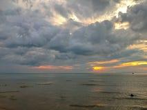 Облако на виде на море Стоковое Изображение RF