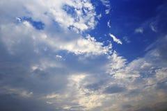 Облако на заходе солнца Стоковая Фотография RF