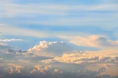 Облако на twilight времени Стоковое Изображение