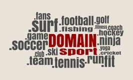 Облако доменных имен спорта Стоковое Изображение