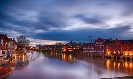 Облако & река ouse реки Стоковое Фото
