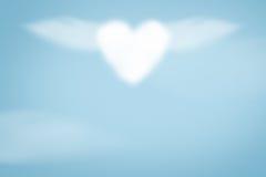 Облако сердца на голубой предпосылке Стоковые Изображения RF