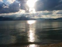 Облако Солнця n Стоковая Фотография RF