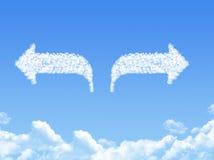 облако стрелки сформировало Стоковая Фотография RF