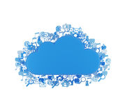Облако с значками Стоковые Фото