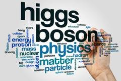 Облако слова бозона Higgs американское стоковое изображение rf
