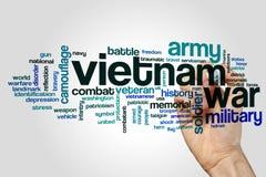 Облако слова война США против Демократической Республики Вьетнам Стоковое Фото