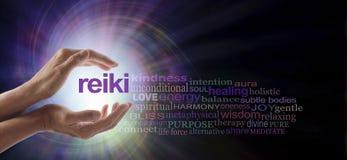 Облако слова вортекса Reiki заживление стоковая фотография