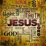Облако слова Иисуса, предпосылка grunge Стоковая Фотография