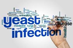 Облако слова инфекции дрожжей стоковые изображения rf