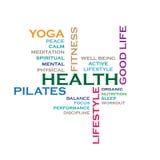 Облако слова концепции здоровья Стоковая Фотография RF