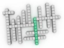 облако слова концепции мотивировки 3d Стоковое фото RF