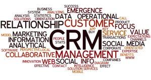 Облако слова концепции CRM Стоковая Фотография RF