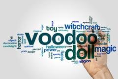 Облако слова куклы Voodoo Стоковые Изображения