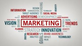 Облако слова маркетинга теплое иллюстрация вектора