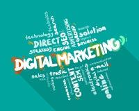 Облако слова маркетинга цифров Стоковые Фото