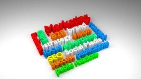 облако слова маркетинга 3D бесплатная иллюстрация