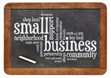 Облако слова мелкого бизнеса Стоковое Фото