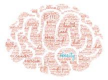 Облако слова мозга тучности Стоковые Фото