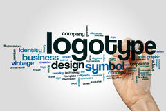 Облако слова логотипа стоковые изображения