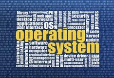 Облако слова операционной системы Стоковые Фото
