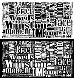 Облако слова от Orwell 1984 Стоковые Изображения