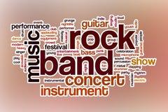 Облако слова рок-группы с абстрактной предпосылкой Стоковые Изображения RF