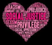 Облако слова социальной справедливости Стоковое Изображение