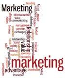 Облако слова с концепцией маркетинга Стоковые Изображения RF