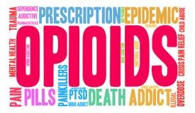 Облако слова Opioids Стоковые Изображения RF