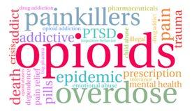 Облако слова Opioids Стоковые Фото
