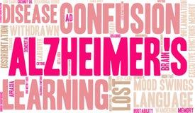 Облако слова ` s Alzheimer иллюстрация штока