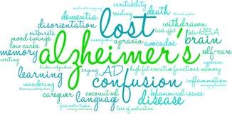 Облако слова ` s Alzheimer иллюстрация вектора