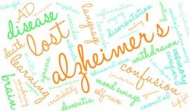 Облако слова ` s Alzheimer бесплатная иллюстрация