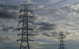 Облако с электрической башней Стоковые Изображения RF