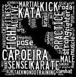 Облако текста боевых искусств с формой Стоковое Изображение RF