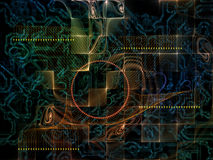 Области связей технологии Стоковые Изображения RF