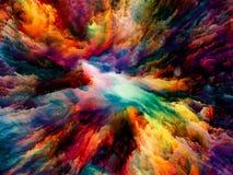 Области сюрреалистической краски Стоковые Изображения