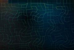 область банка зарева светлая для текста на абстрактных голубых и темных ых-зелен di Стоковое Изображение