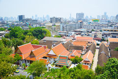 Область городского пейзажа и виска в Бангкоке Таиланда 0119 Стоковое Изображение RF