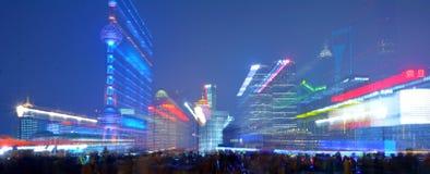 Область Шанхая - Пудуна новая Стоковые Фото