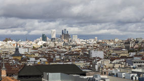 Облачное небо в Мадриде Стоковое Фото