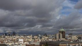 Облачное небо в Мадриде Стоковая Фотография RF