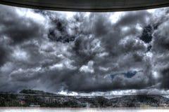 Облачное небо в Baguio - HDR Стоковая Фотография RF