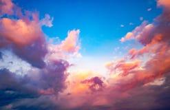 Облачное небо фантазии Стоковые Изображения RF