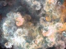 Облачное небо фрактали на ноче с звездами Стоковые Фото