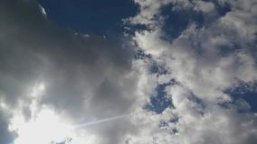 Облачное небо Timelapse, отснятый видеоматериал timelapse, сток-видео